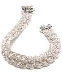 LOVE this bracelet in WIDE Turks Head Knot Bracelet by Anatoli