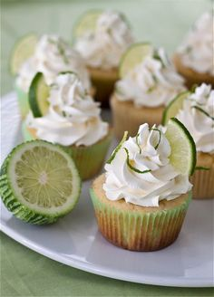 margarita cupcakes with tequila-lime buttercream.