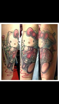 Hello kitty tattoo by Emily Schmitt