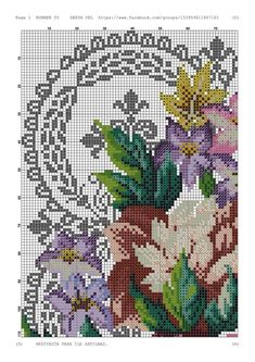 Cross Stitch Designs, Cross Stitching, Embroidery Designs, Crochet, Floral, Charts, Album, Table, Towels