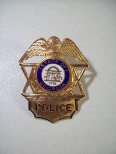 Vintage State of Georgia Police Badge Obsolete by Funllectibles, $74.95