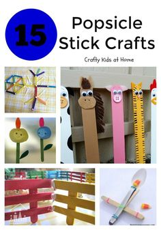 Popsicle sticks to many, but they'll always be lolly sticks to me. Whatever you choose to call them though, you should never thrown them away after you've finished your treats. They are an excellent junk modelling material and can be used in all sorts of different kids arts and crafts.
