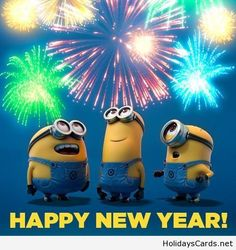 Happy New Year Fireworks Minions