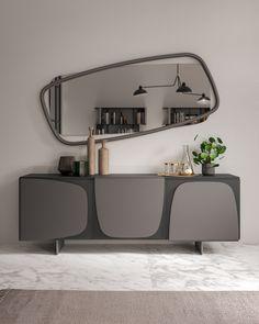 Bedroom Bed Design, Bedroom Furniture Design, Home Room Design, Home Interior Design, Sideboard Decor, Modern Sideboard, Sideboard Cabinet, Kitchen Sideboard, White Sideboard
