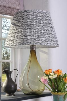 Block printed lampshade by Samarkand Design