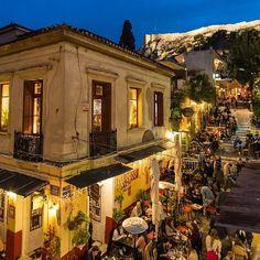 Athens, Greece ... Photo by @mistocleskoklas #athens #plaka #greece