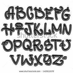 Funky Lettering Styles | Stock Photos, Illustrations, and Vector Art similar to Image ID ...