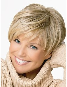 Details about Western Style Women's Short Golden Straight Wig Synthetic Fiber Hair With Cap - My list of women's hairstyles Short Hairstyles For Women, Bob Hairstyles, Straight Hairstyles, Pixie Haircuts, Layered Hairstyles, Natural Hairstyles, Short Hair Cuts For Women With Bangs, Braided Hairstyles, Woman Hairstyles