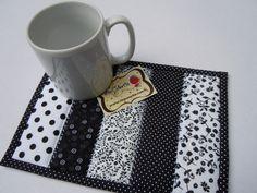 All sizes   Mug Rug - B&W   Flickr - Photo Sharing!