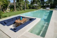 38 Popular Luxury Swimming Pools Design Ideas For Outdoor - Building a swimming pool is not a big deal these days, but building a luxury swimming pool is clearly the 'in' thing in today's times. Building A Swimming Pool, Luxury Swimming Pools, Luxury Pools, Swimming Pools Backyard, Dream Pools, Swimming Pool Designs, Pool Landscaping, Small Backyard Design, Small Backyard Pools