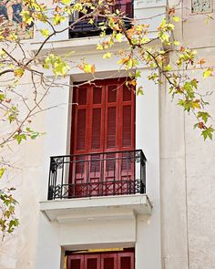 Red Window Photograph - Athens Greece Photography -  Mediterranean Home Decor