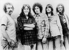 The Eagles in the beginning : l to r, Bernie Leadon, Glenn Frey, Don Henley, Randy Meisner, Don Felder