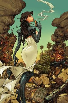 kenneth rocafort | The Madame Mirage TPB cover by Kenneth Rocafort.