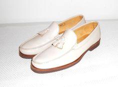Maus & Hoffman Men's Beige Leather Tassle Loafer Shoe Size 11 N  #MausHoffman #LoafersSlipOns