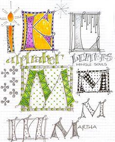 Art du Jour by Martha Lever: When you can't paint...doodle!