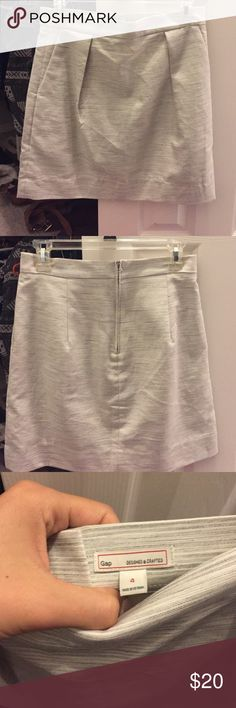 Gap marked grey skirt Pretty cotton grey skirt from Gap. This piece is a really beautiful standard piece the weight is great for summer and can be worn in fall with tights. GAP Skirts Mini