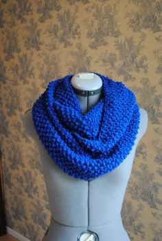 Infinity ScarfCOBALT BLUE by soliknits on Etsy, $40.00