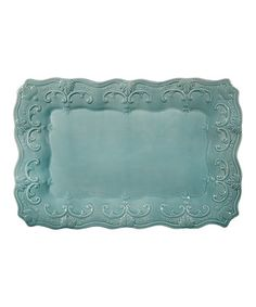 Love this Aqua Fancy Scroll Platter by Home Essentials and Beyond on #zulily! #zulilyfinds