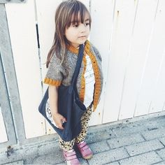 #babaà Jumper No.5 worn as a cardigan , we love it! Picture by…
