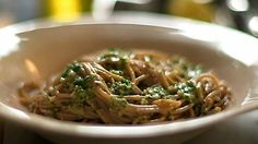 Spelt Spaghetti with olives and anchovies
