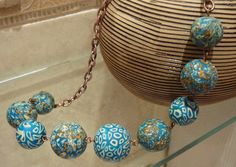 good example of making a quality necklace with polymer clay beads