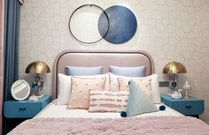 Tato e design sensorial em 2020 Kids Bed Design, E Room, Daughters Room, Bed Wall, Baby Room Decor, Luxurious Bedrooms, Bed Furniture, Kid Beds, Decoration