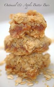Really tasty! Will probably tweak to make a little healthier, but overall easy and yummy! Platter Talk: Oatmeal and Apple Butter Bars (earth balance instead of butter to make vegan)