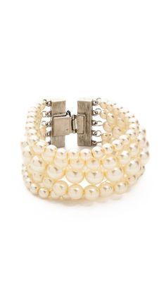 multi strand imitation pearl bracelet / ben-amun