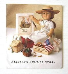 American Girl Kirsten's Summer Story Pamphlet About Fishing Fourth of July Fun   eBay