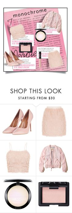 """""""Pale pink monochrome"""" by nicole-christie-mennen ❤ liked on Polyvore featuring Charli, Topshop, Hollister Co., MAC Cosmetics and NARS Cosmetics"""