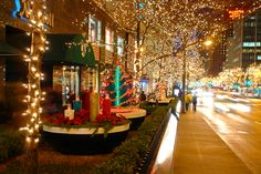 I would ride down Chicago's Magnificant Mile during the holidays   #ridecolorfully