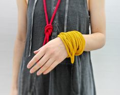knitted necklace or bracelet