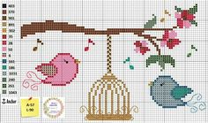 Cross Stitch Tree, Cross Stitch Alphabet, Cross Stitch Designs, Cross Stitch Patterns, Cross Stitching, Cross Stitch Embroidery, Crochet Cross, Tapestry Crochet, Loom Patterns