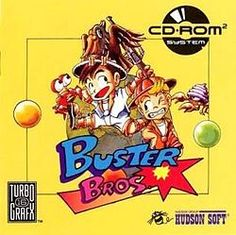 Buster Bros. - cooperative two-player arcade video game released in 1989 by Capcom. The Buster brothers must finish a round-the-world quest to destroy bouncing balloons that are terrorizing several of Earth's landmarks and cities. The fight to save the Earth begins on Mt. Fuji, Japan where the brothers must pass all three stages before moving on to the next location.