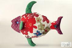 Soft fish pillow Stuffed fish toy Housewarming Gift by OlonaToys