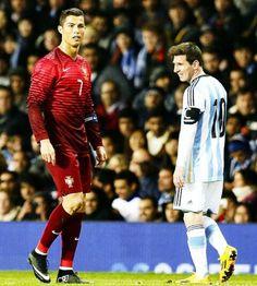 Cristiano Ronaldo and Lionel Messi #itsallaboutrespect #thebeautifulgame