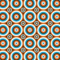 retro oparty-pattern (by Elizabeth Caldwell, via Behance)