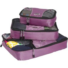 Save space during your travels by using packing cubes.
