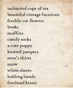 adorable list!