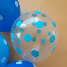 30pcs/lot Transparent wave point  12inch 2.8g  pink and blue balloon helium kids birthday decor globos  Free shipping