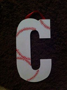 Baseball themed room. This would also be cute with the full name!