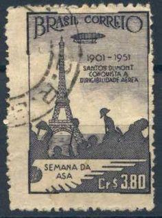 ALBERTO SANTOS DUMONT (1873-1932) Journal Pages, Junk Journal, Fotos Do Instagram, Vintage Stamps, Stamp Collecting, Letterpress, Vintage World Maps, Poster, Graphic Design