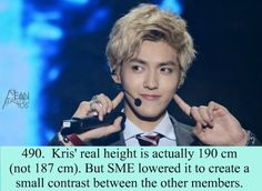 Exo Facts. He is too tall....