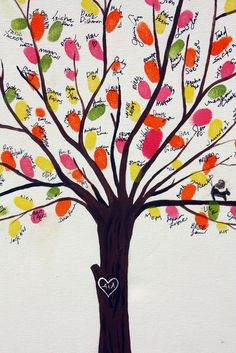 Fingerprint family tree - could also make as a keepsake of past classes/students you've taught