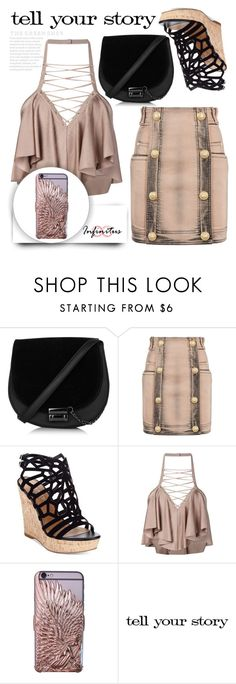 """""""www.infinituscases.com"""" by infinituscases ❤ liked on Polyvore featuring Balmain, Charles by Charles David, iphone, phonecases, cases, infinituscases and loveinfinituscases"""
