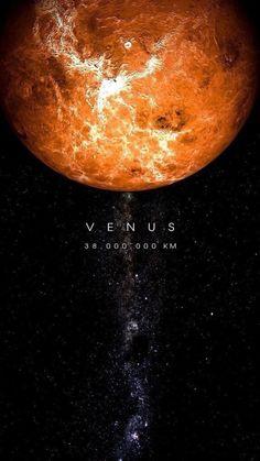Venus, average distance from Earth, 38 million km. Venus, average distance from Earth, 38 million km. Cosmos, Planets Wallpaper, Galaxy Wallpaper, Jupiter Wallpaper, Mars Wallpaper, Wallpaper Earth, Nebula Wallpaper, Iphone Wallpaper, Space Planets
