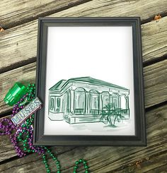 """Country Club, Bywater New Orleans Canvas Paper Print 8x10"""""""