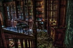 abandoned library | I love history!