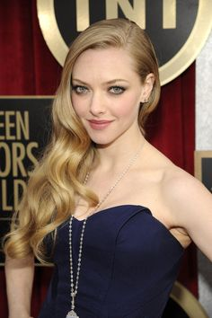 Amanda Seyfried Goes With a Dramatic Gown at the SAG Awards: Amanda Seyfried wore a blue Zac Posen gown.