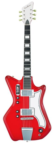 Eastwood Guitars Airline 592P Red Full Front